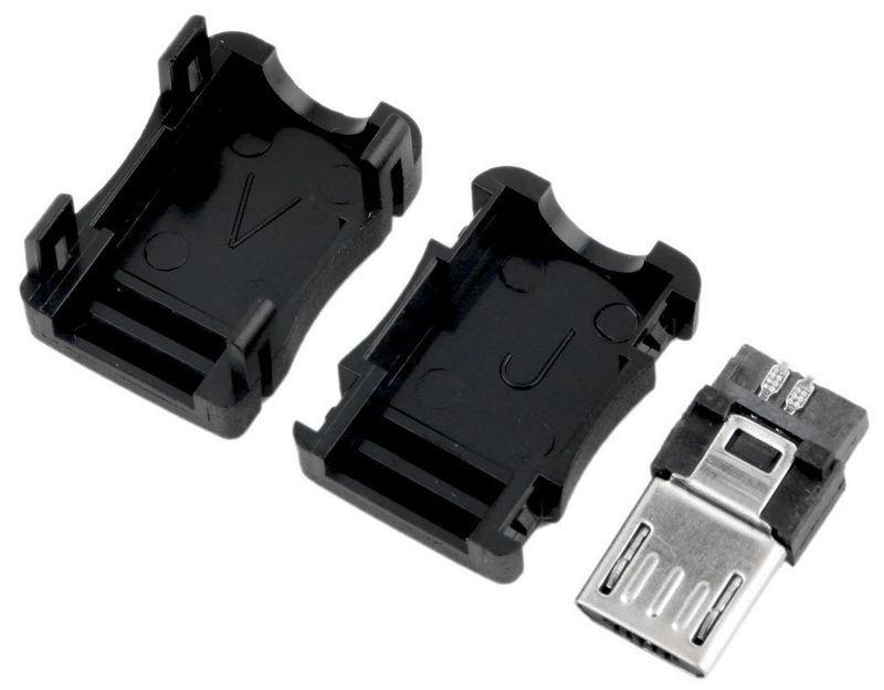 Штекер micro USB разборный 5pin