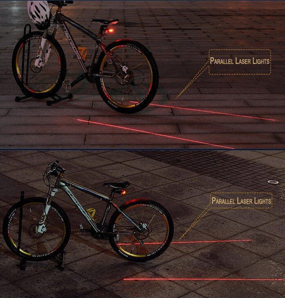 Задній ліхтарик велосипедний ЛАЗЕРНА доріжка