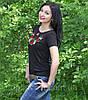 Национальная футболка маки черная, фото 5