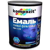 Эмаль Kompozit ПФ-115 зеленая 2.8 кг
