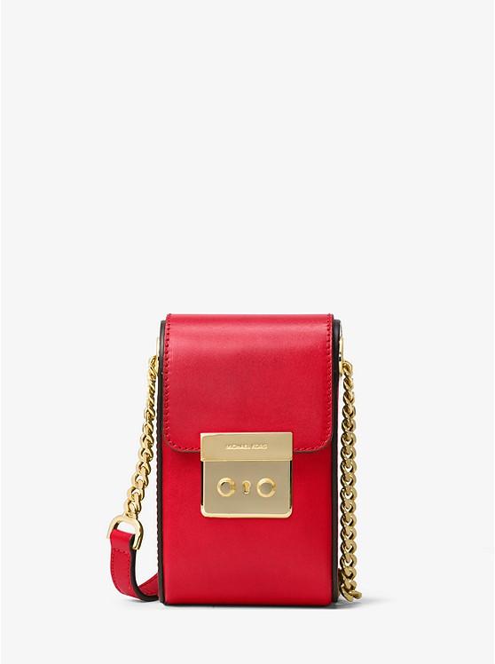 Сумка Michael Kors Scout Leather Crossbody red 32H6GB2C2L