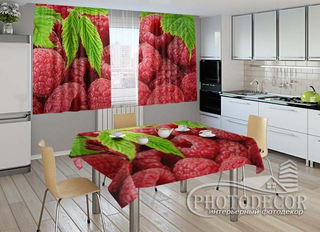 Фото комплект для кухни (штора 1,5м*2,5м; скатерть 1,0м*1,20м)