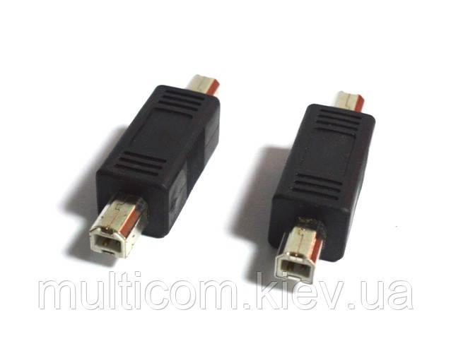 01-08-205. Переходник штекер USB тип В - штекре USB тип В