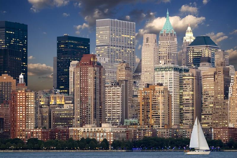 Фотообои Парусник В Нью-Йорке