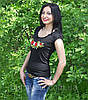 """Женская футболка с вышивкой трикотаж """"Рюша"""", фото 3"""