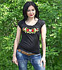 """Женская футболка с вышивкой трикотаж """"Рюша"""", фото 4"""