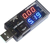 USB тестер вольтметр/амперметр KEWEISI KWS-10VA