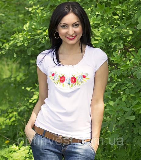 """Женская футболка вышиванка трикотаж """"Рюша"""""""
