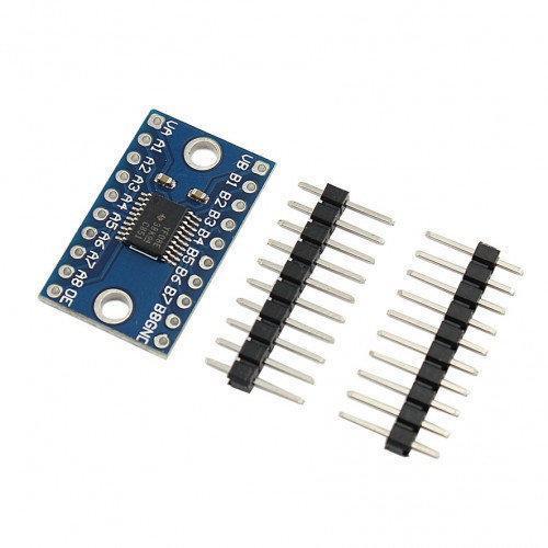 8 канальный двунаправленный преобразователь уровней 3.3/5В на микросхеме TXS0108E