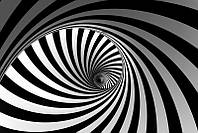 3D фотообои: Черно-белый тоннель