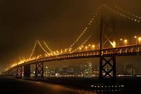 Фотообои Мост светящийся ночью