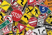 3D фотообои: Дорожные знаки