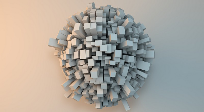 3D фотообои: Шар и пики