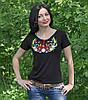 """Красивая футболка вышиванка для женщин """"Колосок"""", фото 2"""