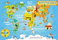 Фотообои: Детская карта мира