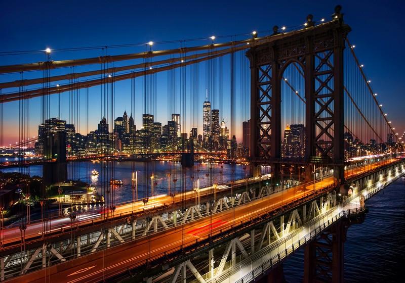 Фотообои Манхэттенский мост на рассвете