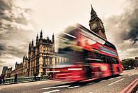 Фотообои Лондонский автобус в движении