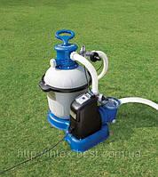 Песочный фильтрующий насос 10 м3/ч с хлорогенератором, Intex 28682 (28680)