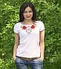 Национальная футболка маки белая, фото 3