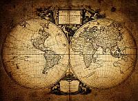 Фотообои: Винтажная карта мира