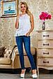 Блуза 2230 белый с цветочным принтом, фото 2