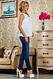 Блуза 2230 белый с цветочным принтом, фото 3