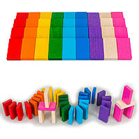 Деревянная игрушка плашки Домино в коробке, ТАТО