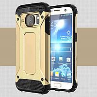 Чехол Samsung S7 / G930 противоударный бампер Armor Shield золотой