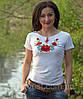 Национальная футболка маки белая, фото 4