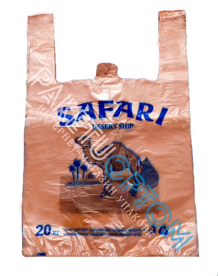 "Пакеты-майка с рисунком ""Safari"" 30x49 см."