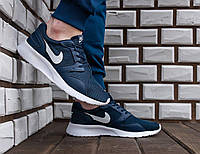 Синие Мужские Кроссовки Nike Roshe Run арт.1017, фото 1