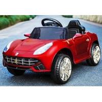 Детский электромобиль M 3176 EBLRS-3 в автопокраске, с кожаным сиденьем, красный