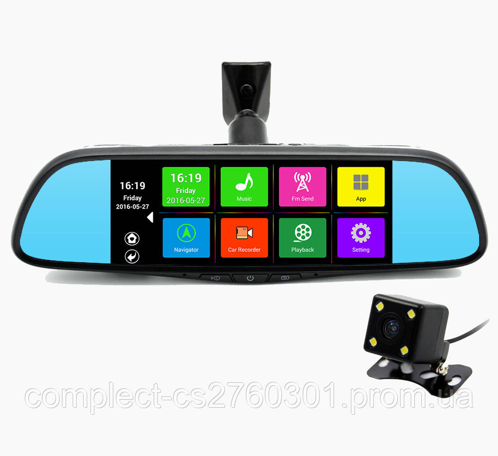 Автомобильное зеркало на Андроиде Prime-X 107