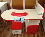 """Маникюрный стол """"Стандарт""""+пуф для педикюра+подкова, фото 5"""