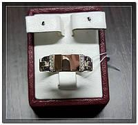 Серебряная мужская печатка с золотом Арт.128