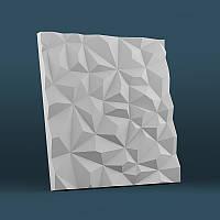 Декоративная гипсовая 3Д панель «Кристаллы»
