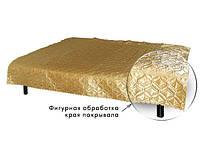 Покрывало атласное эконом золото 140 х 220 см размер