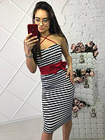Сарафан морячка с красным поясом