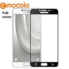 Защитное стекло Mocolo 2.5D 9H на весь экран для Samsung C5 Pro чёрный
