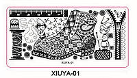 Пластина - картина для стемпинга серии XIUYA №01