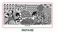 Пластина - картина для стемпинга серии XIUYA №02