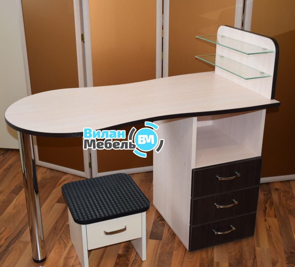 """Маникюрный стол """"Стандарт""""+подставка для педикюрной ванночки"""