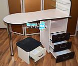 """Маникюрный стол """"Стандарт""""+подставка для педикюрной ванночки, фото 2"""