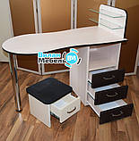 """Маникюрный стол """"Стандарт""""+подставка для педикюрной ванночки, фото 4"""