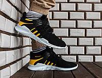 Черные Мужские Кроссовки Adidas EQT ADV Support арт.1014, фото 1