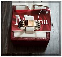 Серебряная мужская печатка с золотом Арт.100