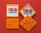 Квадратные заготовки для значков. Цвет оранжевый. Размер фото 44х44 мм, фото 4