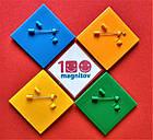 Квадратные заготовки для значков. Цвет оранжевый. Размер фото 44х44 мм, фото 5