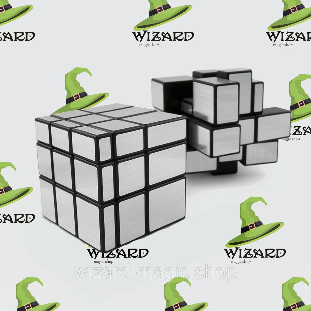 Кубик Рубика 3х3х3 Зеркальный серебро