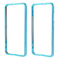 Чехол бампер Dual Aluminum Alloy для Huawei P10 Lite голубой